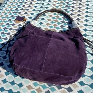 Linea Pelle Purple Willow Hobo Bag NWT
